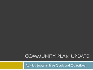 Community Plan Update