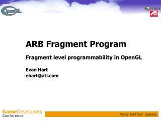ARB Fragment Program