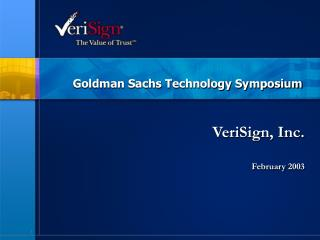 Goldman Sachs Technology Symposium