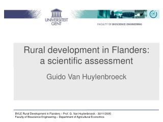 Rural development in Flanders:  a scientific assessment