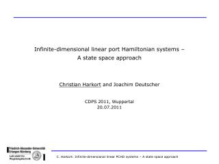 Infinite-dimensional linear port Hamiltonian systems – A state space approach