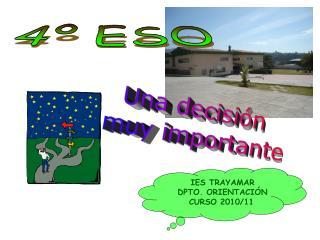 IES TRAYAMAR DPTO. ORIENTACIÓN CURSO 2010/11