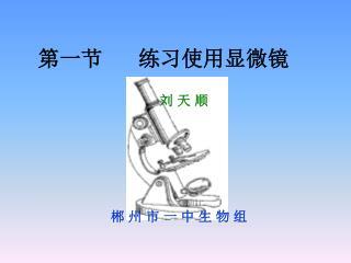 第一节      练习使用显微镜