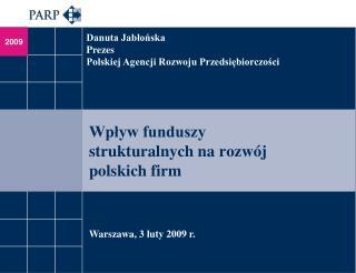 Wpływ funduszy strukturalnych na rozwój polskich firm