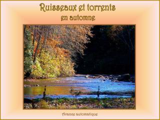 Ruisseaux et torrents