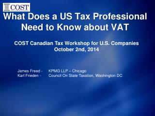 What Does a US Tax Professional Need to Know about VAT
