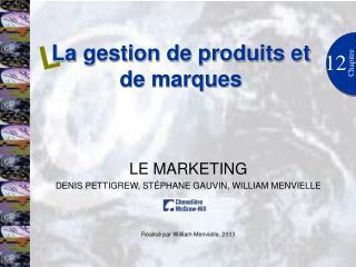 La gestion de produits et de marques