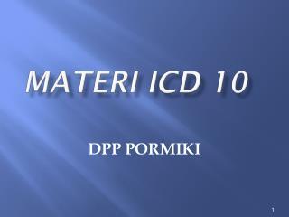Materi ICD 10