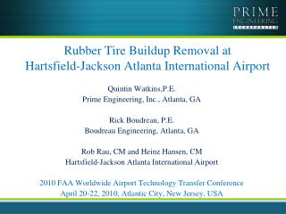Rubber Tire Buildup Removal at  Hartsfield-Jackson Atlanta International Airport