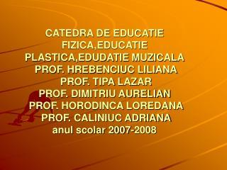 EDUCATIE  PLASTICA ACTIVITATI EXTRACURRICULARE