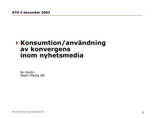 KTH 4 december 2003