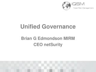 Unified Governance