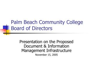 Palm Beach Community College Board of Directors