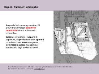 Cap. 3 - Parametri urbanistici