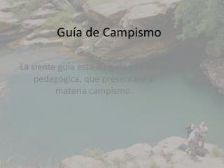 Guía de Campismo