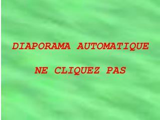 DIAPORAMA AUTOMATIQUE NE CLIQUEZ PAS