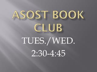 ASOST BOOK CLUB