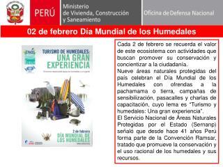 02 de febrero Día Mundial de los Humedales