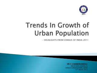 Trends In Growth of Urban Population