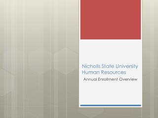 Nicholls State University  Human Resources