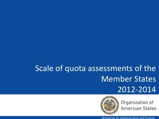 Scale of quota assessments of the Member States 2012-2014