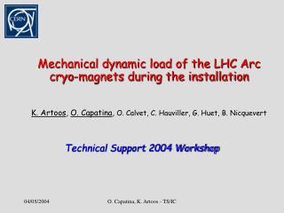 Technical Support 2004 Workshop