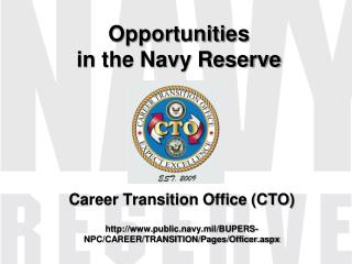 Opportunities in the Navy Reserve