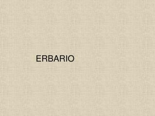 ERBARIO