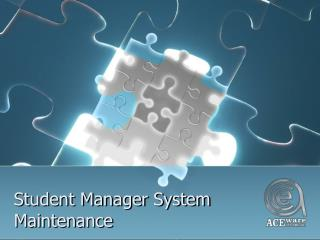 Student Manager System Maintenance
