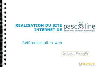 REALISATION DU SITE INTERNET DE  Références all-in-web