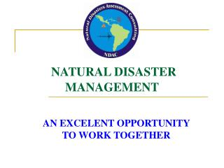 NATURAL DISASTER MANAGEMENT