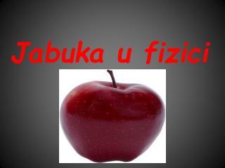 Jabuka  u fizici