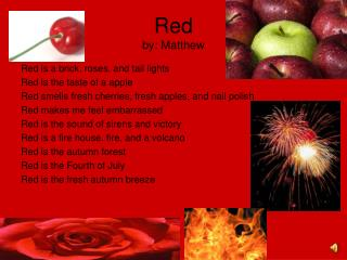 Red by: Matthew