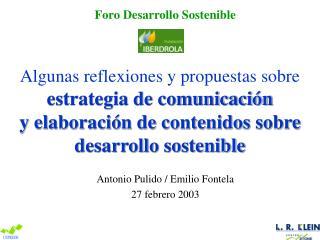 Antonio Pulido / Emilio Fontela 27 febrero 2003