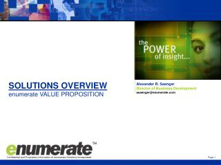 SOLUTIONS OVERVIEW enumerate VALUE PROPOSITION
