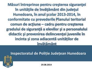 Inspectoratul de Poliție  Jude țean  Hunedoara