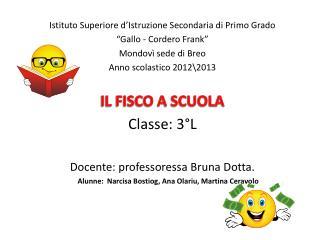 """Istituto Superiore d'Istruzione Secondaria di Primo Grado """"Gallo - Cordero Frank"""""""