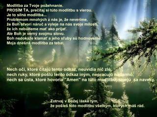 Modlitba za Tvoje požehnanie. PROSÍM ŤA, prečítaj si túto modlitbu s vierou.