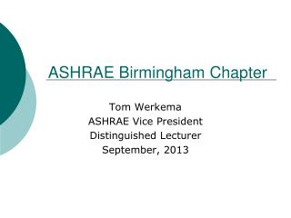 ASHRAE Birmingham Chapter