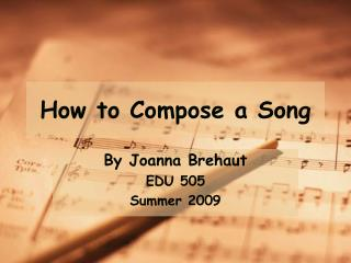 How to Compose a Song