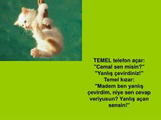 TONYALI Cemal, Temel'e övünüyormuş: