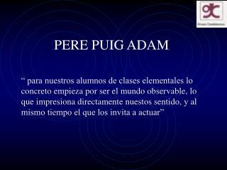 PERE PUIG ADAM