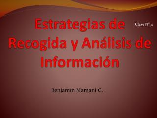 Estrategias de Recogida y Análisis de Información