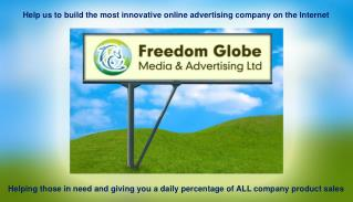 Helping those in need and giving you a daily percentage of ALL company product sales