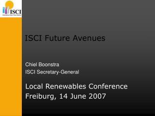 ISCI Future Avenues