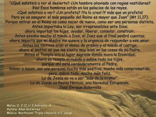 Mateo 11, 2-11 // 3 Adviento –A- Autora: Asun Gutiérrez.