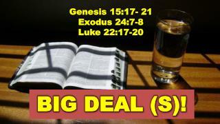 Genesis 15:17- 21  Exodus 24:7-8 Luke 22:17-20