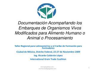 Taller Regional para Latinoam�rica y el Caribe de Formaci�n para Formadores