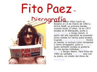 Fito Paez - Discografía