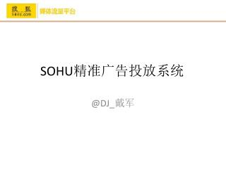 SOHU 精准广告投放系统